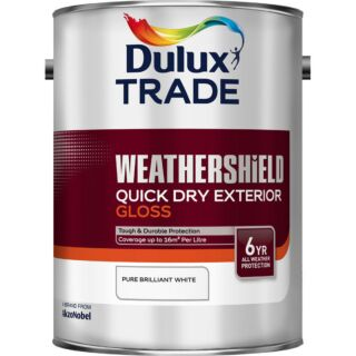 Dulux Trade Weathershield Quick Dry Exterior Gloss - Brilliant White