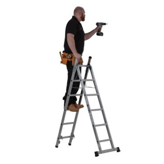 Youngman 3 Way Combination Ladder 2.42m - 3.27m