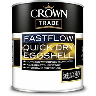 Crown Trade Fastflow Quick Dry Eggshell - White