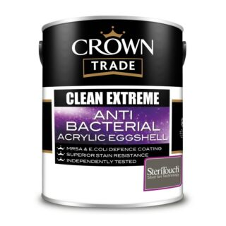 Crown Trade Clean Extreme Anti Bacterial Acrylic Eggshell - Mixed Colour