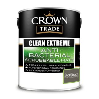 Crown Trade Clean Extreme Anti Bacterial Scrubbable Matt - Mixed Colour