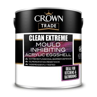 Crown Trade Clean Extreme Mould Inhibit Acrylic Eggshell - White