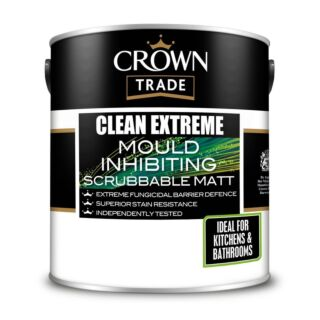 Crown Trade Clean Extreme Mould Inhibiting Scrubbable Matt - Mixed Colour