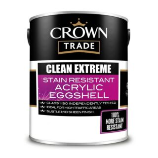 Crown Trade Clean Extreme Durable Acrylic Eggshell - White