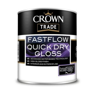 Crown Trade Fastflow Quick Dry Gloss - White