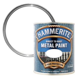 Hammerite Direct To Rust Metal Paint Hammered Finish - White