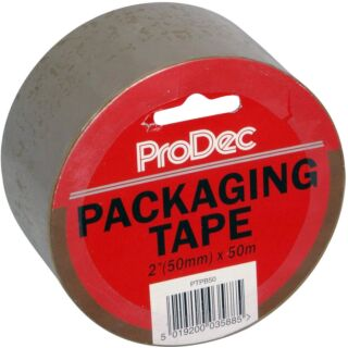 ProDec Brown Packaging Tape 2 x 50m