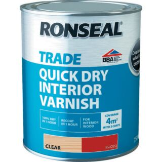 Ronseal Trade Quick Dry Interior Varnish - Clear Gloss