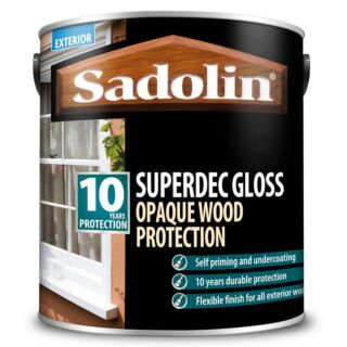 Sadolin Superdec Gloss Opaque Wood Protection - Gloss White