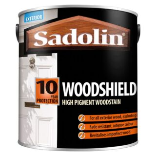 Sadolin Woodshield High Pigment Woodstain - Gloss White 2.5L