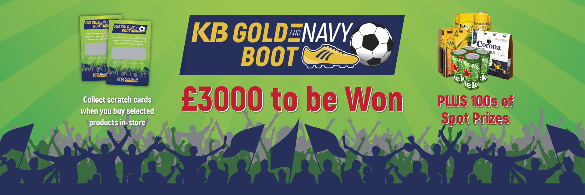 KB Gold & Navy Boot Promotion