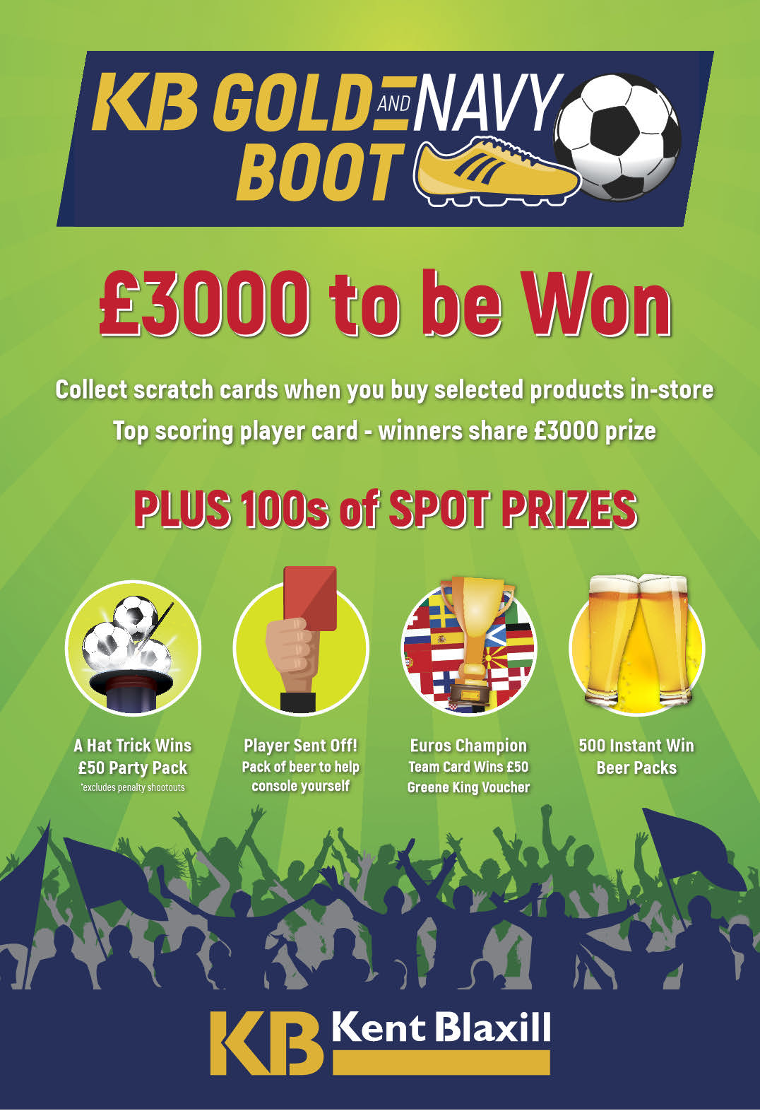 Gold & Navy Boot Promotion